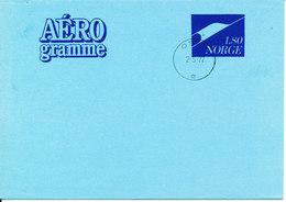 Norway Aerogramme Postal Stationery 1,80 FDC?? Oslo 2-5-1977 - Postal Stationery
