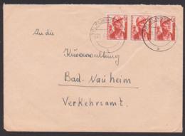 Völklingen (Saar) 6 Fr(3) Bergmann Kohle Erz Kumpel Saar III Nr. 246, Montain - 1947-56 Allierte Besetzung