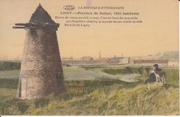 Ligny - Ruine Du Vieux Moulin à Vent (animée, Colorisée, Phototypie Préaux) - Gembloux