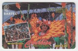 Barbados GPT Phonecard (Fine Used) Code 87CBDA - Barbades