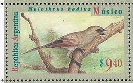 Argentina - 1995 - Série Basic - Oiseaux - Musico $ 9.40 - JG2731 - Pájaros