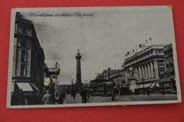 """Ireland  Dublin O'Connell Street 1937 + Nice Cancel """"Goods"""" + Signs Of The Time On The Postcard - Other"""