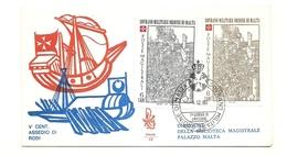 1980 - Sovrano Militare Ordine Di Malta 184/85 Santo Natale    FDC    14/65 - Sovrano Militare Ordine Di Malta