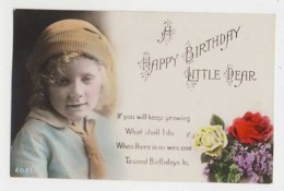 AI97 Children - Portrait Of A Young Girl On A Birthday Greeting - Portraits