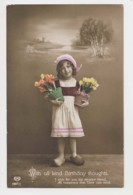 AI97 Children - Young Girl Wearing Clogs And Carrying Tulips - Children And Family Groups