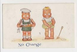 AI97 Children - Artist Drawn Boy And Girl - No Change - Children's Drawings