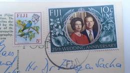 D166556 FIJI - Astolabe Lagoon -stamp  QEII  Silver Wedding Anniversary - Fidschi