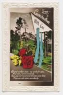 AJ01 Greetings - Family Birthday, Grandmother, Flowers, Trees, Ribbon - Birthday