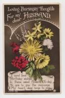 AJ01 Greetings - Family Birthday, Husband, Flowers - Birthday