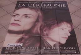 AFFICHE CINEMA ORIGINALE FILM LA CEREMONIE Claude CHABROL BONNAIRE HUPPERT CASSEL 1995 TBE - Affiches & Posters