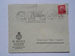 1935 DR Brief Hannover Weitz Glas Porzellan Kristall An Hutschenreuther Freistempel Celler Hengstparade - Allemagne