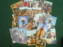 """Lot 17 Cartes """" Voyage Du Roi Baudouin Au Congo été 1955 """" (chocolat Cote D'or) - Cartes Postales"""