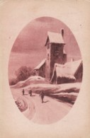 AO18 Snow Covered Church - 1920's Postcard - Postcards