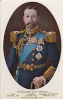 AQ53 Royalty - His Majesty King George V - Tuck Royal Glosso Postcard - Case Reali