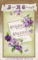 AQ53 Greetings - Loving Birthday Wishes - Embossed Postcard - Birthday
