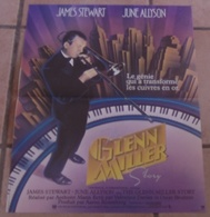 AFFICHE CINEMA FILM THE GLENN MILLER STORY James STEWART June ALLYSON JAZZ TROMPETTE Anthony MANN NEW YORK - Affiches & Posters
