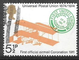1974 5-1/2p UPU, Biplane, Used - Used Stamps