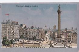 AP66 Trafalgar Square, London - Metal Effect Postcard - Trafalgar Square