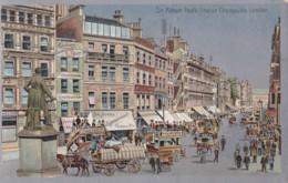 AP66 Sir Robert Peel's Statue, Cheapside, London - Metal Effect Postcard - Autres