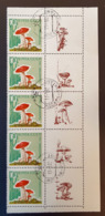 RUSSIA 1964 - 3039- Fungi (5 Stamps With Coupon) - Blocchi & Fogli