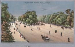 AP66 Hyde Park, Rotten Row, London - Metal Effect Postcard - Autres