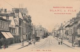 Rue De Vesle (Pub Manufacture De Pâtes Alimentaires BLANC & FILS Valence-sur-Rhone) - Reims