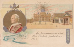 AM43 Religious - Roma 1902 And Pope Leo XIII - Undivided Back Postcard - Popes