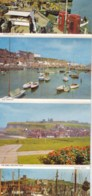AM43 Four View Lettercard, Whitby - Harbour, Abbey, Fishing Boats - Whitby