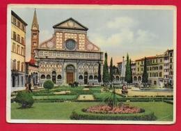 CARTOLINA VG ITALIA - FIRENZE - Piazza E Chiesa Di S. Maria Novella - 10 X 15 - 1952 - Firenze