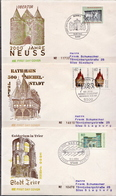 Germany 3 Used FDCs From 1984 - Architecture