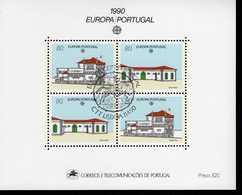 CEPT Postalische Einrichtungen Portugal Block 71 Postamt Santo Tirso  Used Gestempelt - 1990