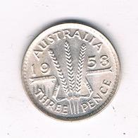 3 PENCE 1958 AUSTRALIE /5944/ - Monnaie Pré-décimale (1910-1965)