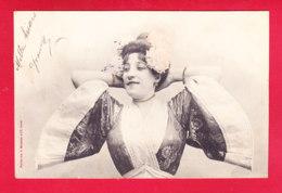 Illust-1665Ph51  Bergeret, Une Feune Femme Vétue D'un Kimono, Cpa Précurseur BE - Bergeret