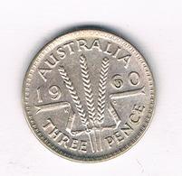 3 PENCE 1960 AUSTRALIE /5945/ - Monnaie Pré-décimale (1910-1965)