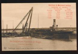 ZEEBRUGGE  DRAGUE SUCEUSE ET BIGUE FLOTTANTE DE 55 TONNES - Zeebrugge