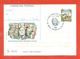 INTERO POSTALE-INTERI POSTALI I.P.Z.S.-CARTOLINA POSTALE-I.P.Z.S.-MARCOFILIA-POLITICA-REPUBBLICA-CAMERA DEPUTATI - 6. 1946-.. Repubblica