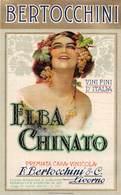 """08477 """"ELBA CHINATO - PREMIATA CASA VINICOLA - F. BERTOCCHINI & C. - LIVORNO"""" ETICH. ORIG. - Etichette"""