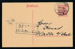 D.-Reich -Rumänien  P1  Ganzsache Zensur Stempel   (oo9497  ) Siehe Scan - Bezetting 1914-18