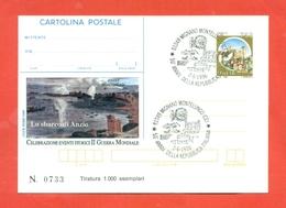 INTERO POSTALE-INTERI POSTALI I.P.Z.S.-CARTOLINA POSTALE-I.P.Z.S.-MARCOFILIA-GUERRE-SBARCO DI ANZIO-MIGNANO MONTELUNGO - Entero Postal
