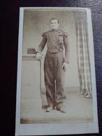 Photographie Ancienne CDV Second Empire - Artilleur à Cheval - Artillerie De Ligne - Photo E. Joulia. Toulouse - TBE - Guerra, Militares