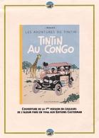 Document Reprenant La Couverture De La 1ère Version En Couleurs De L'album De Tintin Paru En 1946. - Autres