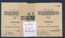 WHW Quittungen....historisches Dokument  (oo9590  ) Siehe Scan - Briefe U. Dokumente