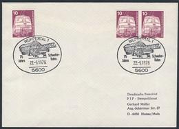 Deutschland Germany 1976 Brief Cover - 75 Jahre Schwebebahn Wuppertal / Wuppertal Suspension Railway - Treinen