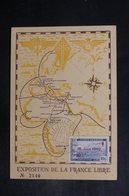 ALGÉRIE - Carte De L 'Exposition De La France Libre En 1947 De Alger - L 38046 - Briefe U. Dokumente
