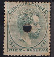 AV02 1872 TALADRADOS EDIFIL 129T NEW No Gum As Usual - Télégraphe