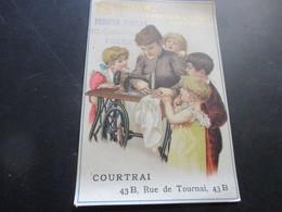 Chromo , Singer Les Meilleures Machines A Coudre, Courtrai, Kortrijk - Trade Cards