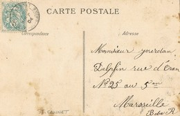 33440. Postal Romantica, Vintage ST. CANNAT (Bouches Du Rhone) 1904. Pareja En Columpio - Francia