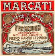 """08480 """"VERMOUTH - ANTICA FABBRICA ROSOLII - PIETRO MARCATI - TREVISO"""" ETICH. ORIG. - Etichette"""