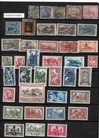 SARRE  Lot De 57 TP  Oblit. Et Neufs  Occup.Frcse Et Allemagne Fed.  1920...1957 - Sarre