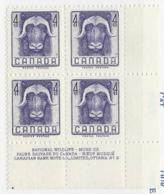 23288) Canada 1955 Musk Ox Plate Block Mint No Hinge ** - 1952-.... Reign Of Elizabeth II